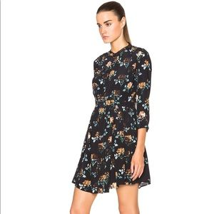 Thakoon addition silk roses dress